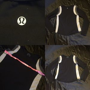 Men's black Lululemon long sleeve sz small